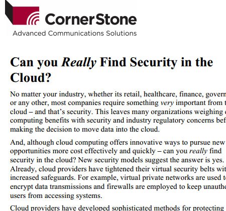 Can you Really Find Safety in the Cloud?