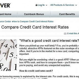 Discover card: How to Compare Credit Card Interest Rates