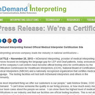 Press Release: InDemand Interpreting