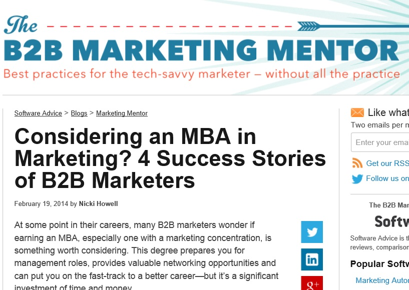 B2B Marketing Mentor