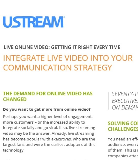 Technology / Integrating Live Video