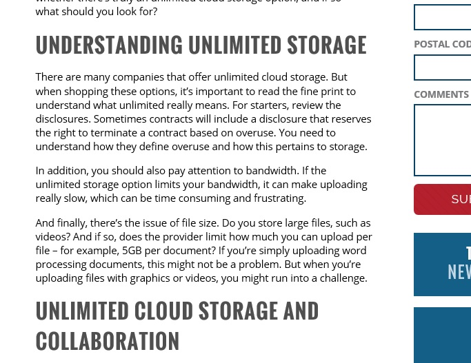 Is Cloud Storage Really Unlimited?