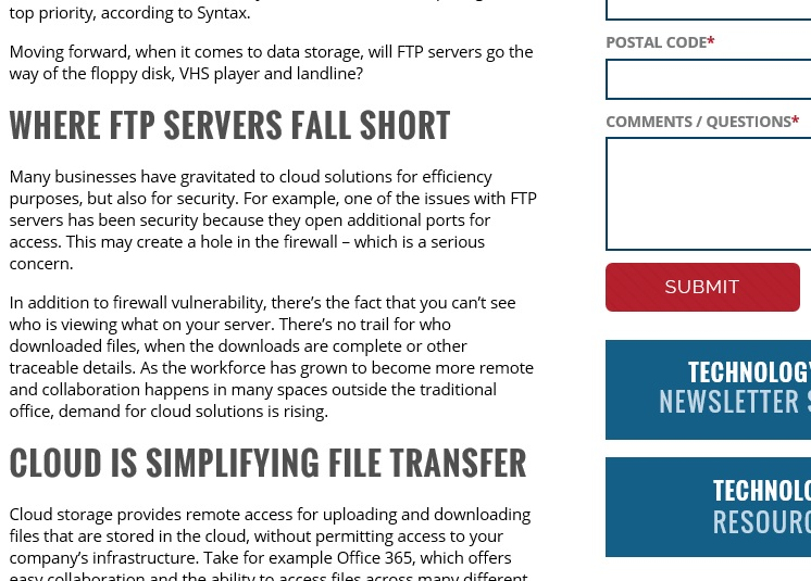 Is Your FTP Server Obsolete?