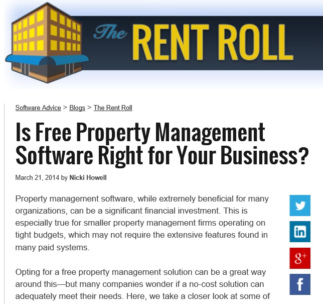 Is Free Property Management Software Right for Your Business?