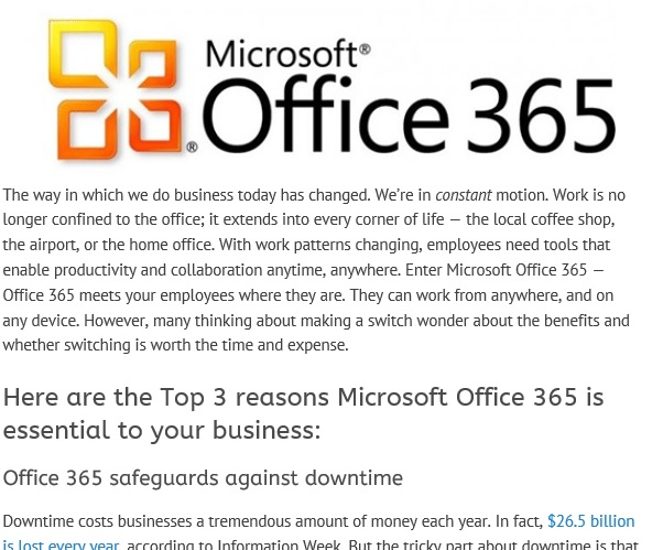Is Microsoft Office 365 Essential to Your Business?