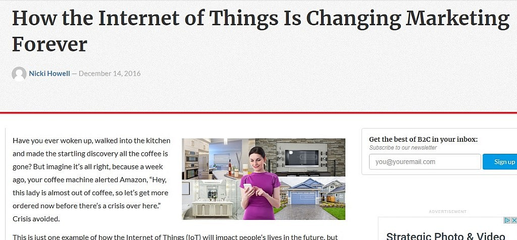 Technology blog – How the Internet of Things Is Changing Marketing Forever