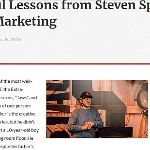 Technology blog – 5 Powerful Lessons from Steven Spielberg on Content Marketing