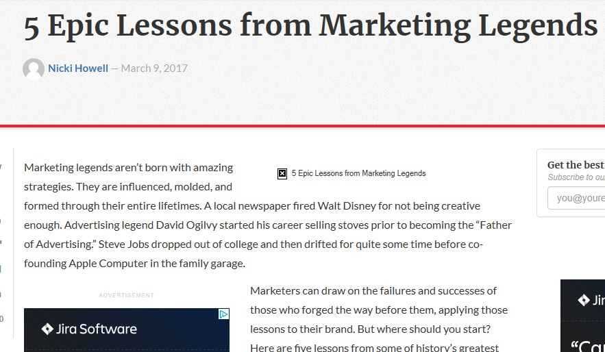 Technology blog – 5 Epic Lessons from Marketing Legends
