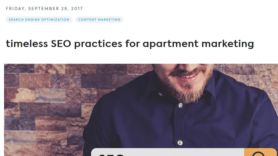 Real estate technology – Timeless SEO practices for apartment marketing
